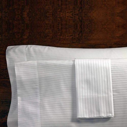 White Stripe Luxury Pillow Case (Queen – 2 Pack)