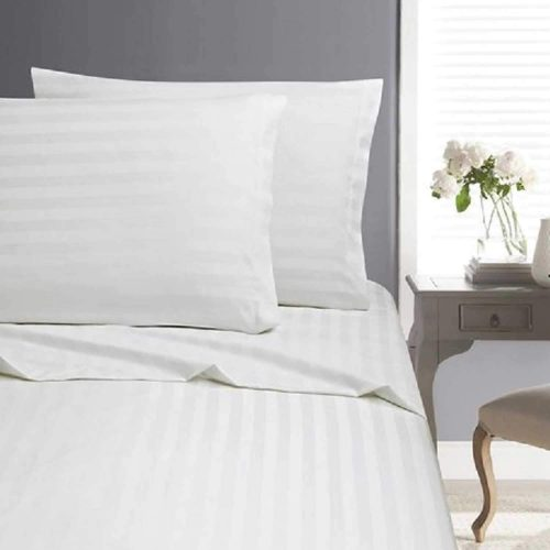 Luxury Cotton Stripe Bed Sheet Set – Queen