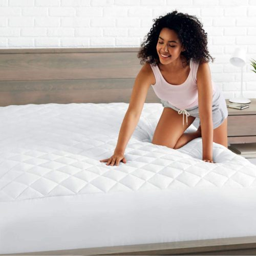 Quilted Fitted Mattress Pad Cover – Fitted – Full (54″x80″x12″)