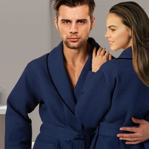 Luxury Design Waffle Cotton Bathrobe