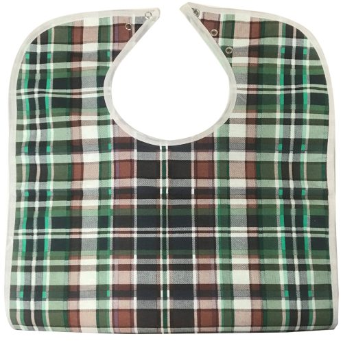 HYGIENX Reusable Adult Bib (Green, 3 Pack)