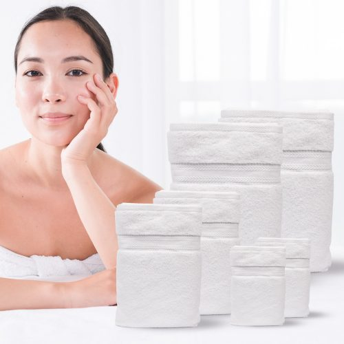 Luxury Towels Set, 2 Bath Hand 2 Face Towels