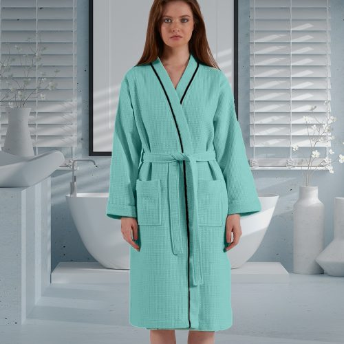 Luxury Sleepwear Waffle Design Bathrobe