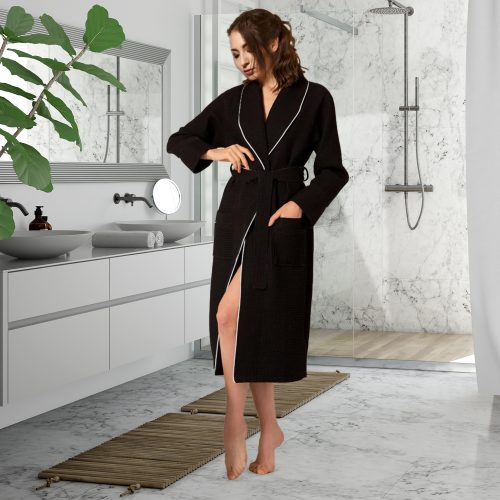 Luxury Designer Cotton Waffle Bathrobe