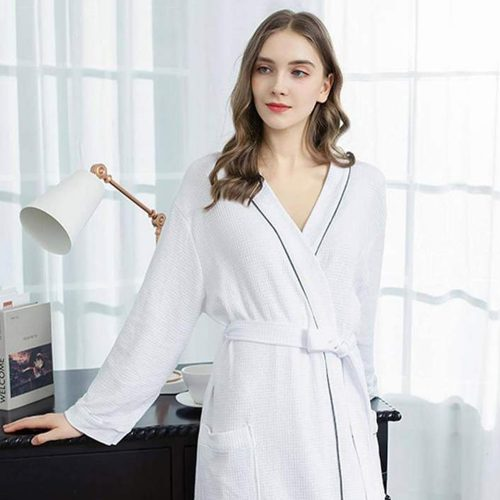 Cotton Designer Luxury Waffle Bathrobe