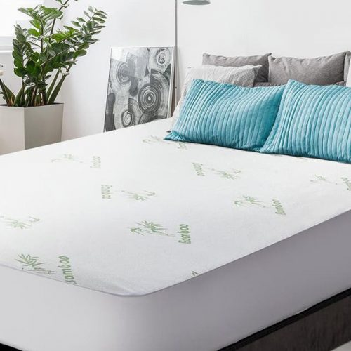 Bamboo Waterproof Mattress Protector – Fitted – Queen (60″x80″x14″)