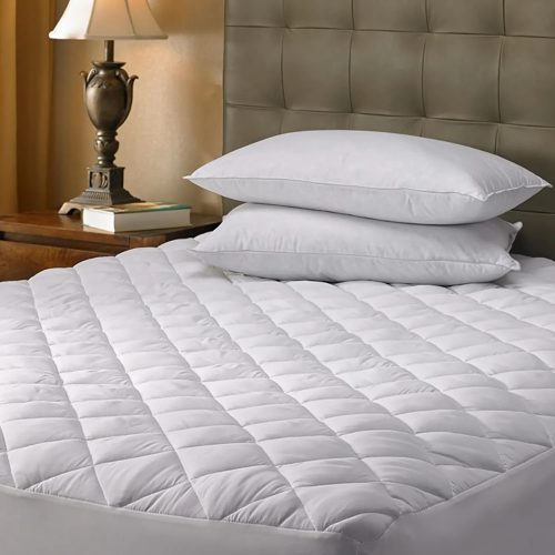 Quilted Fitted Mattress Pad Cover – Fitted – King (78″x80″x12″)