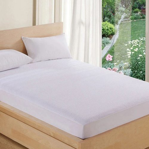 Cotton Terry Zipper Mattress Encasement – Fitted – Queen (60″x80″x14″)